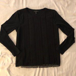 J.Crew long sleeve black T-shirt